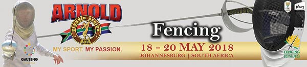 South African Senior National Fencing Championships to be held at the  Arnold Classic 2018